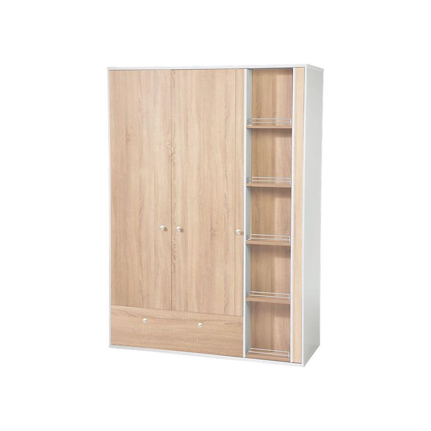 roba kleiderschrank anika 3 t rig wei sonoma eiche s gerau. Black Bedroom Furniture Sets. Home Design Ideas