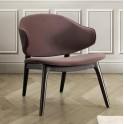 andas Sessel Sporring mit Beingestell aus massivem Eschenholz